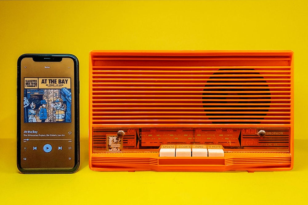 Image of EUROPHON RC59 ORANGE (1959) SPEAKER BLUETOOTH
