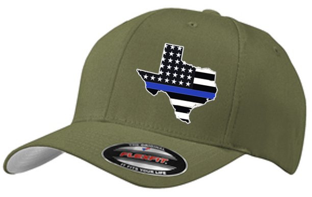 Image of BLUE LINE STATE FLAG FLEXFIT CAP