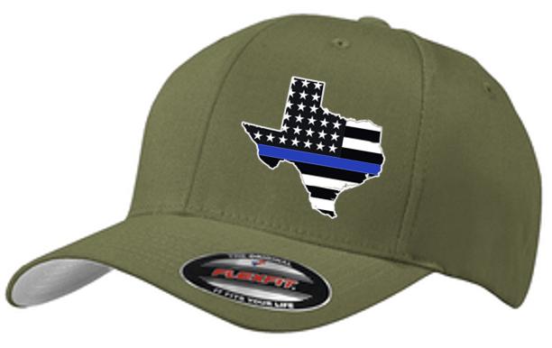 Image of BLUE LINE STATE FLAG FLEXFIT CAP