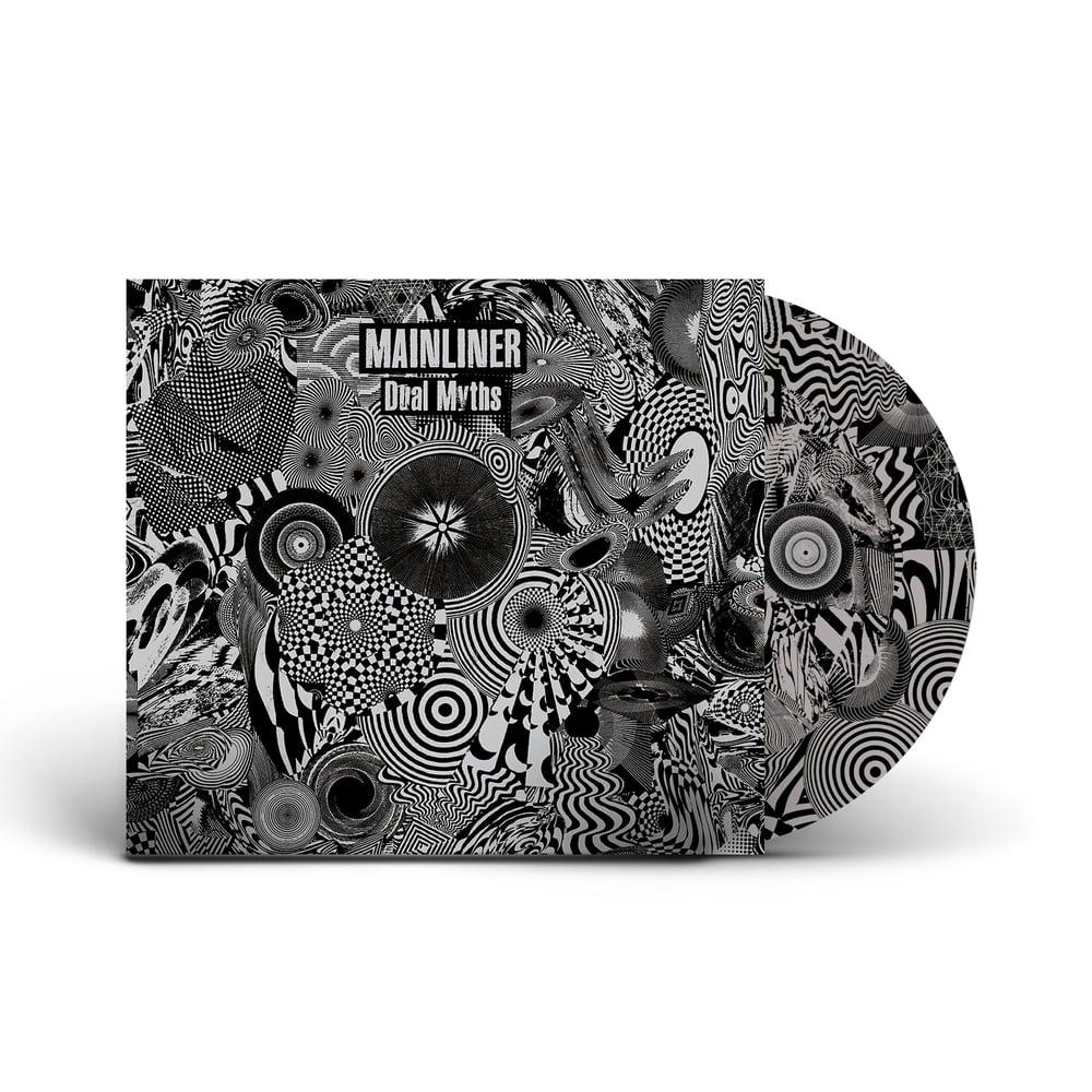 MAINLINER 'Dual Myths' Silver & Black Vinyl 2xLP & CD Bundle