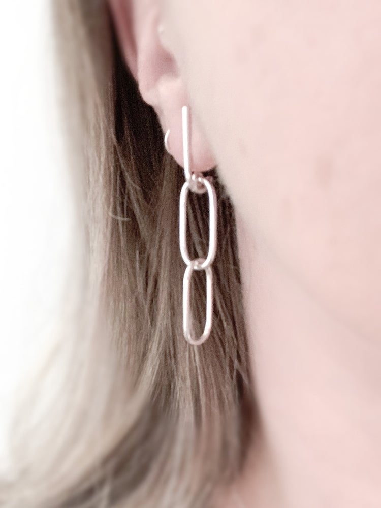 Image of Chain Two Earrings