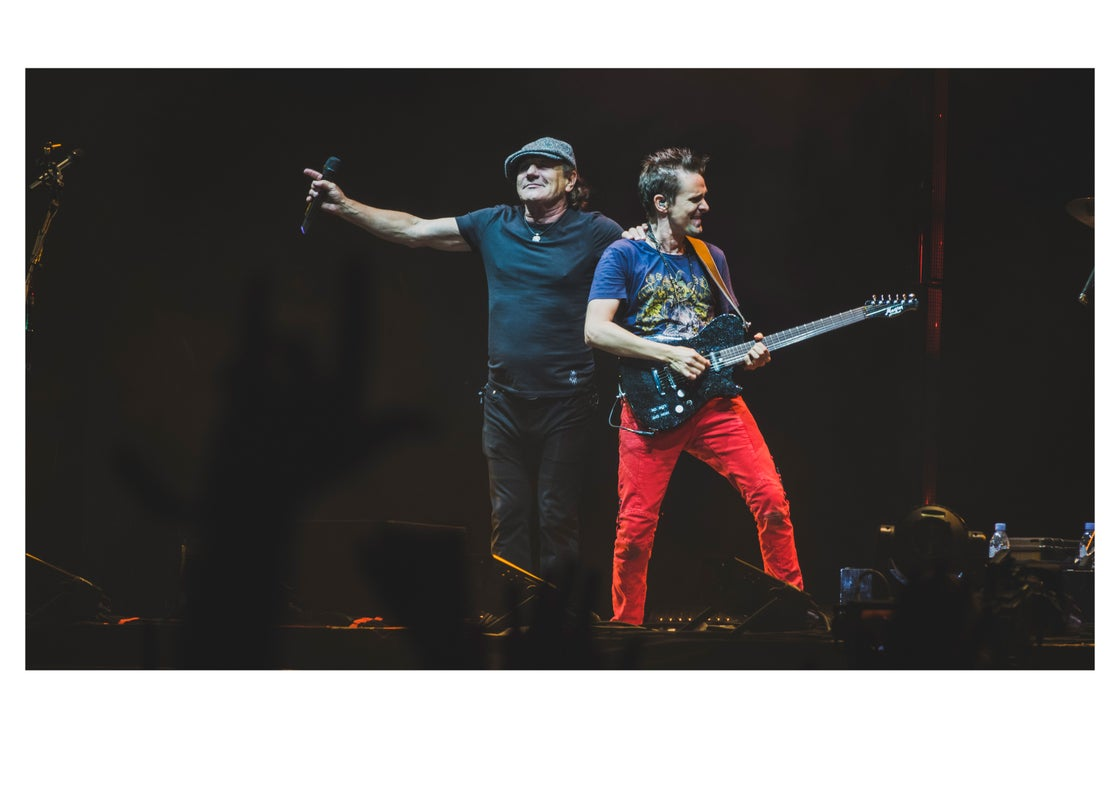Image of Muse & Brian Johnson of AC/DC at Reading Fest 2017