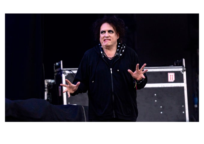 Image of Robert Smith At Glastonbury 2019