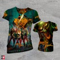 """Burning Witches """"Dance with the Devil"""" Allover T-shirt"""