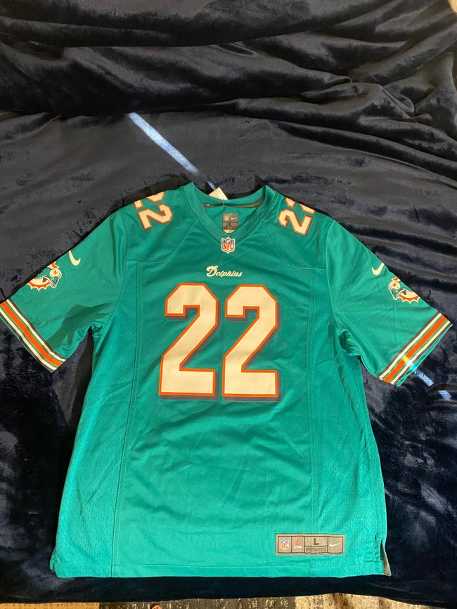 ( L ) Nike Miami Dolphins Reggie Bush Game Jersey - Aqua