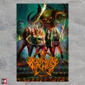 Burning Witches textile poster flag