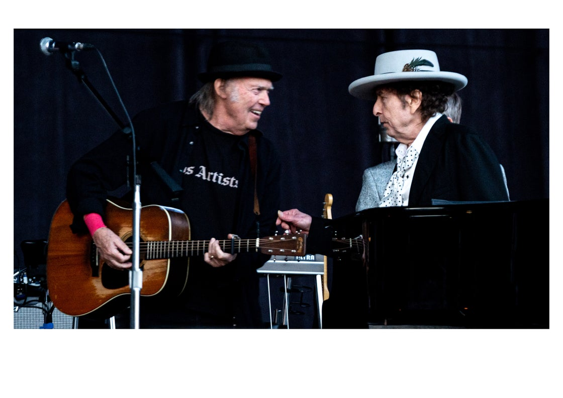 Image of BOB DYLAN & NEIL YOUNG - IRELAND 2019