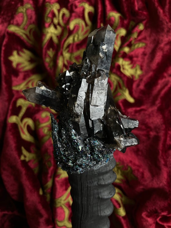Image of Rare Black Quartz,   Scepter/ Wand - Ritual Rattler