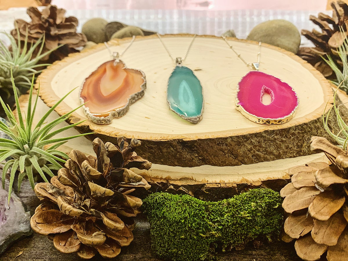 Image of Silver Agate Necklaces