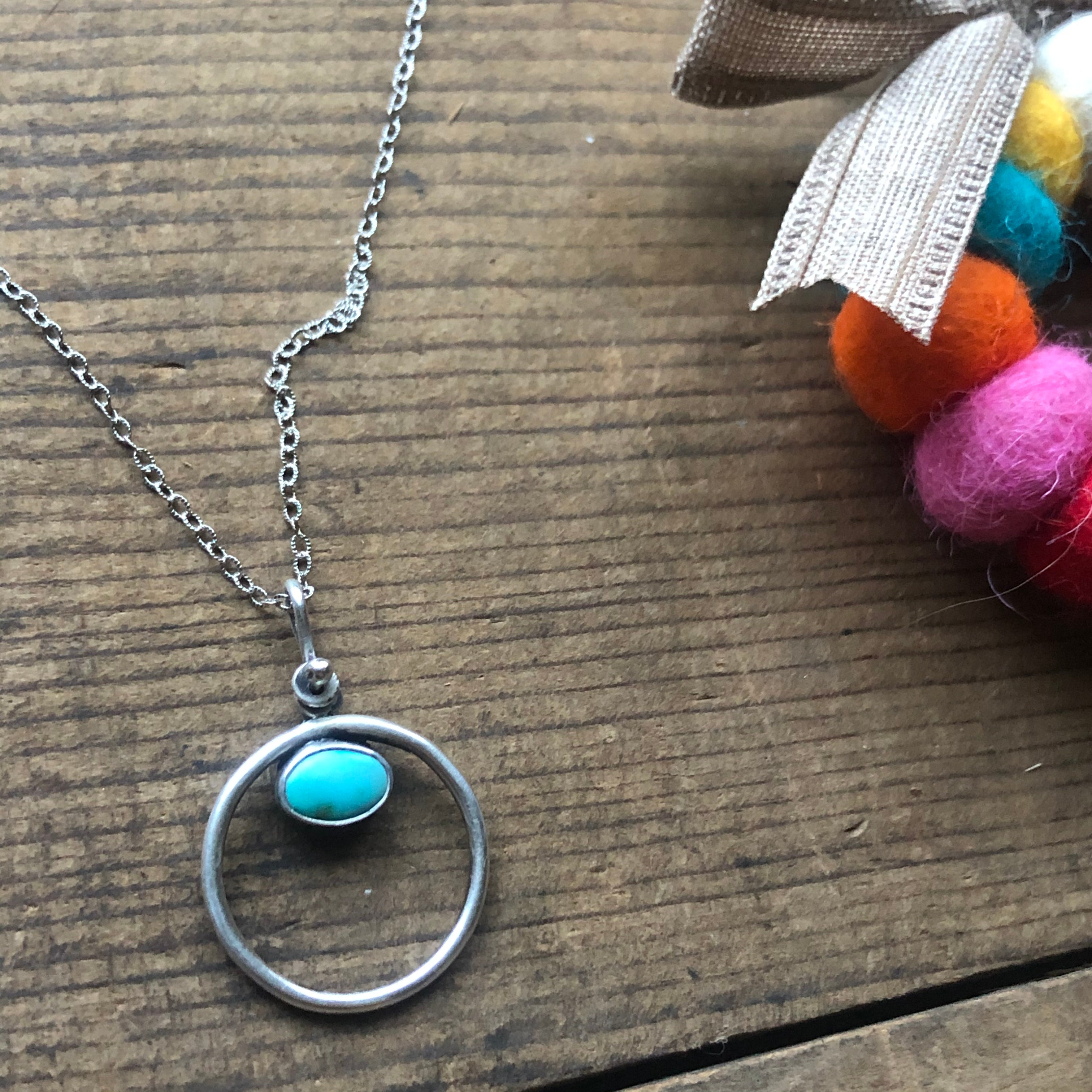Just absolutely stunning double sided Carico Lake turquoise pendant with a solid sterling silver bail
