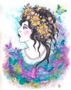 FLOWERS IN HER HAIR BY CARRIE