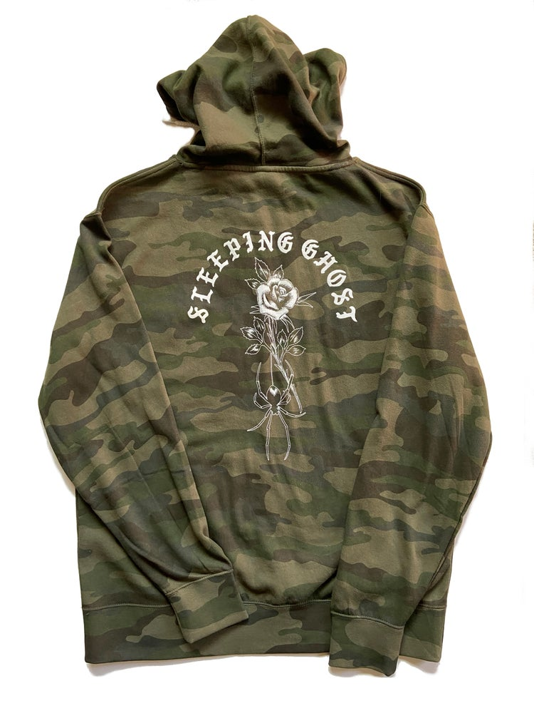 Image of CAMO ROSE HOODIE