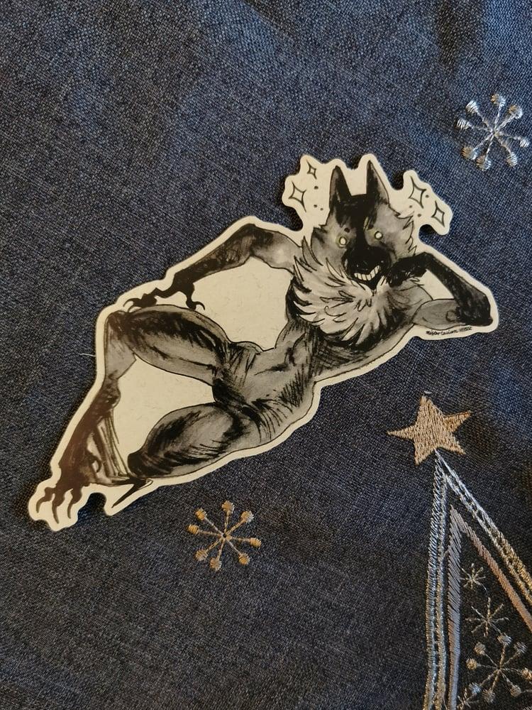 Image of Werewolf matte vinyl sticker