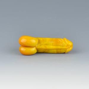 Image of Corny Curry Phallus Charm Bead - Flamework Glass Sculpture Bead