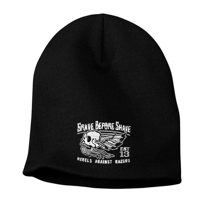 Image of GRAVE BEFORE SHAVE BEANIE