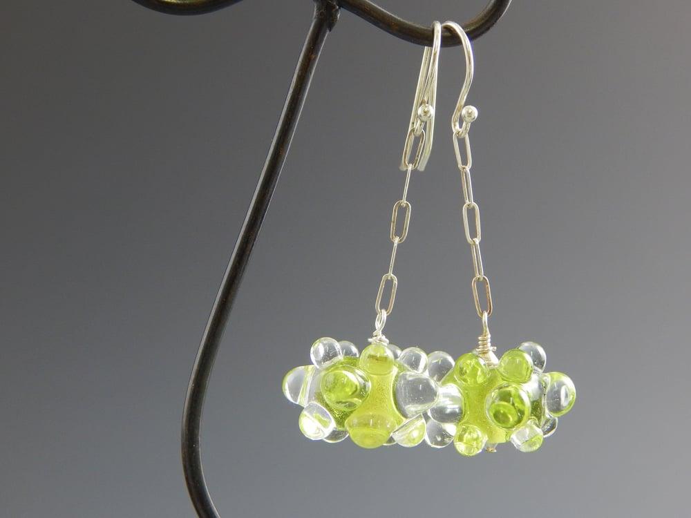 Image of Artisan Glass • Raised Dot Dangles