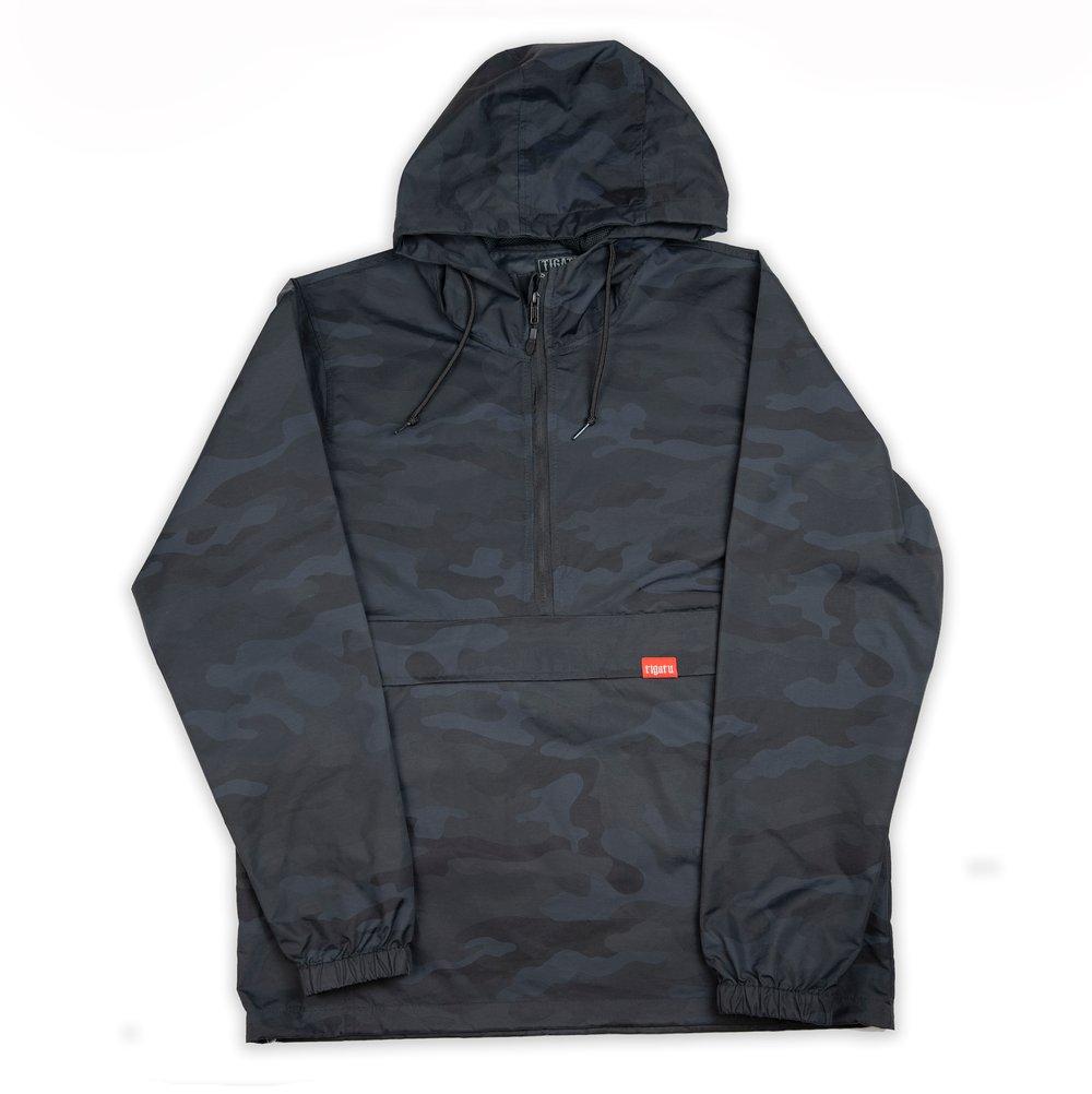 Image of Tigatu Anorak Jacket - Black Camo