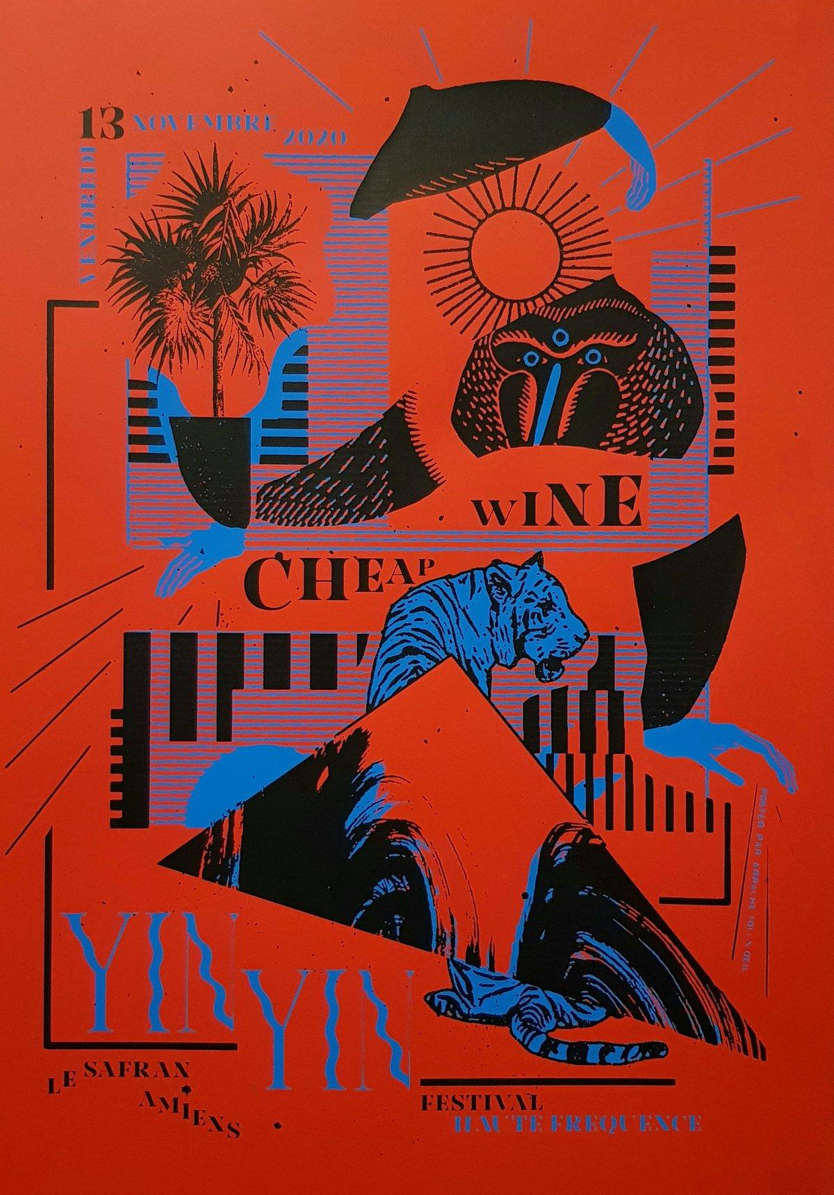 YIN YIN / CHEAP WINE (gigposter Amiens) 2020