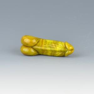 Image of Relish #1 Phallus Charm Bead - Flamework Glass Sculpture Bead