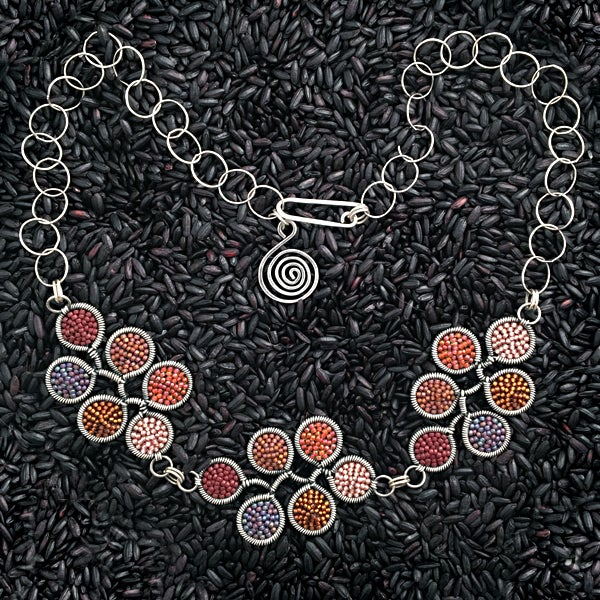 Image of 18 dot Necklace in Bonfire