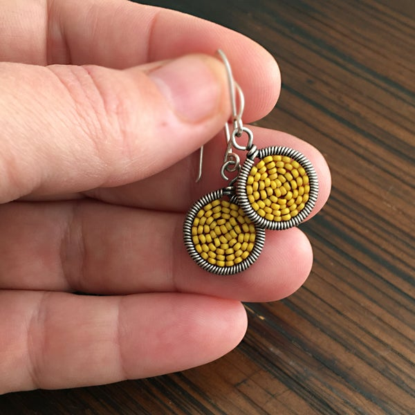 Image of Medium dot Earring - 32 Colors Available