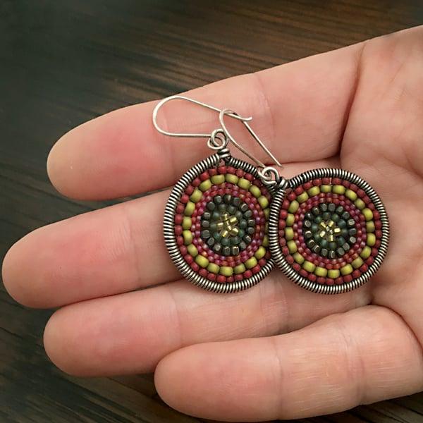 Image of Large dot Earrings in Amélie