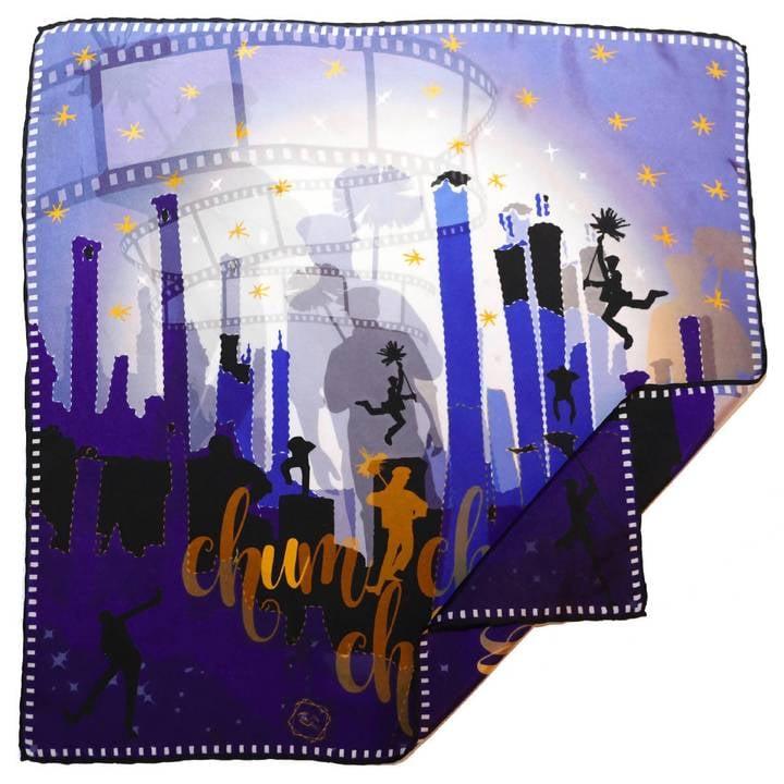 Image of CHUM CHUM, Le Grand Foulard (carré en soie de 90/90cm)