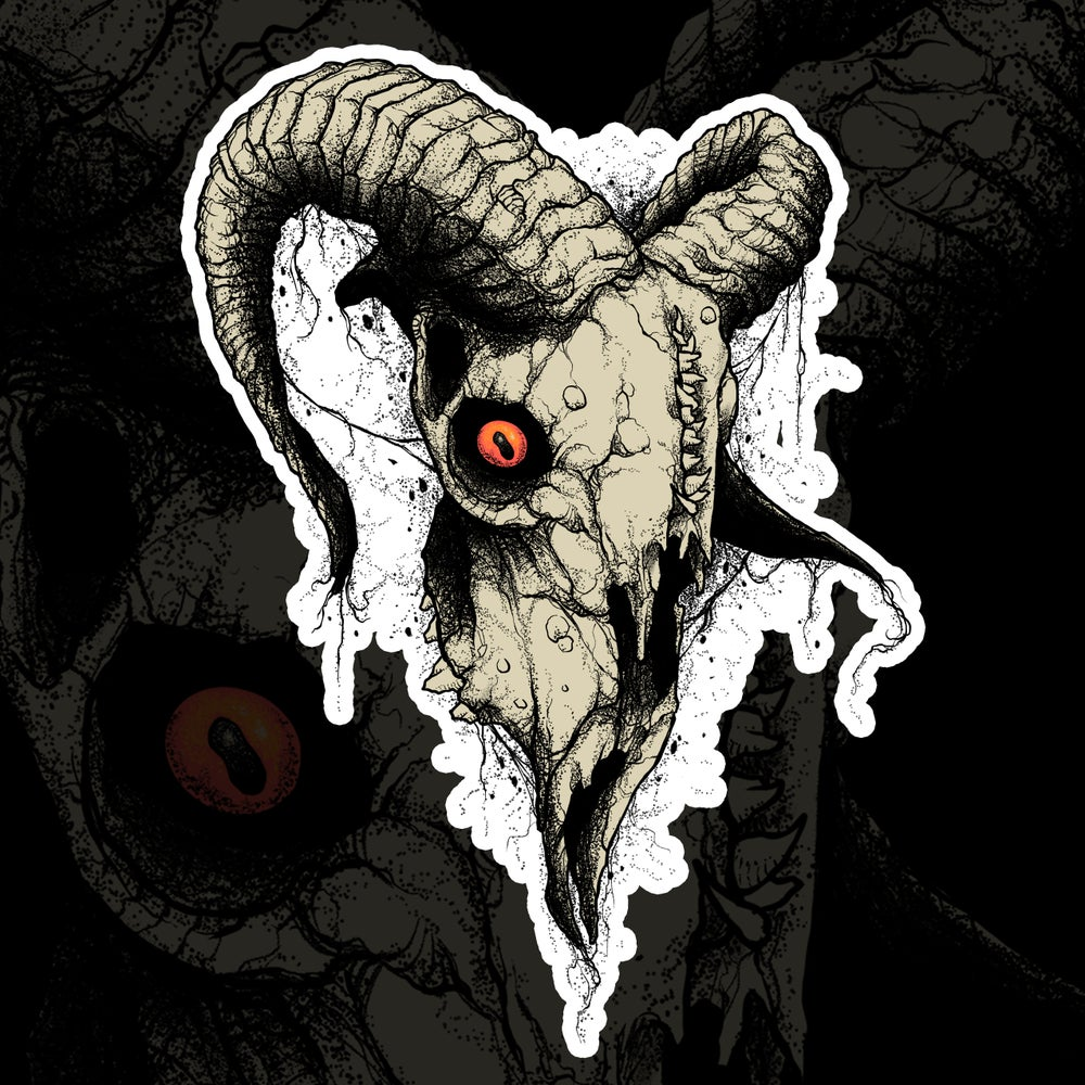 Image of Ram Skull Sticker