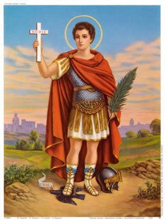 Image of Saint Expedite Candle with Medal