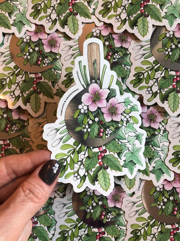 Image of Winter Harvest Mirrored Sticker