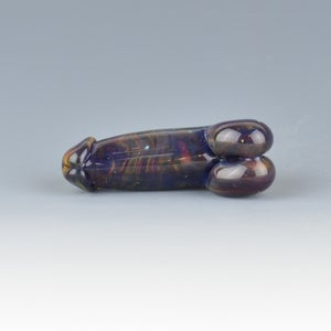 Image of Silvered Cosmos Phallus Charm Bead - Flamework Glass Sculpture Bead
