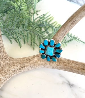 Sun Cluster Turquoise Ring (7)