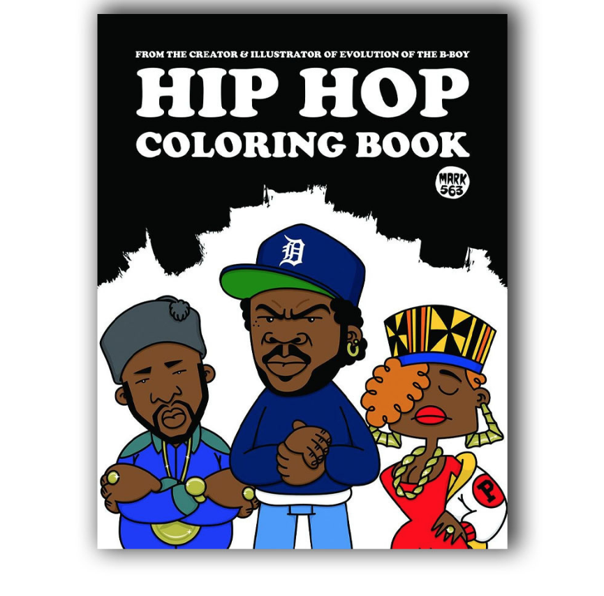 Image of Hip Hop Coloring Book - Mark 563