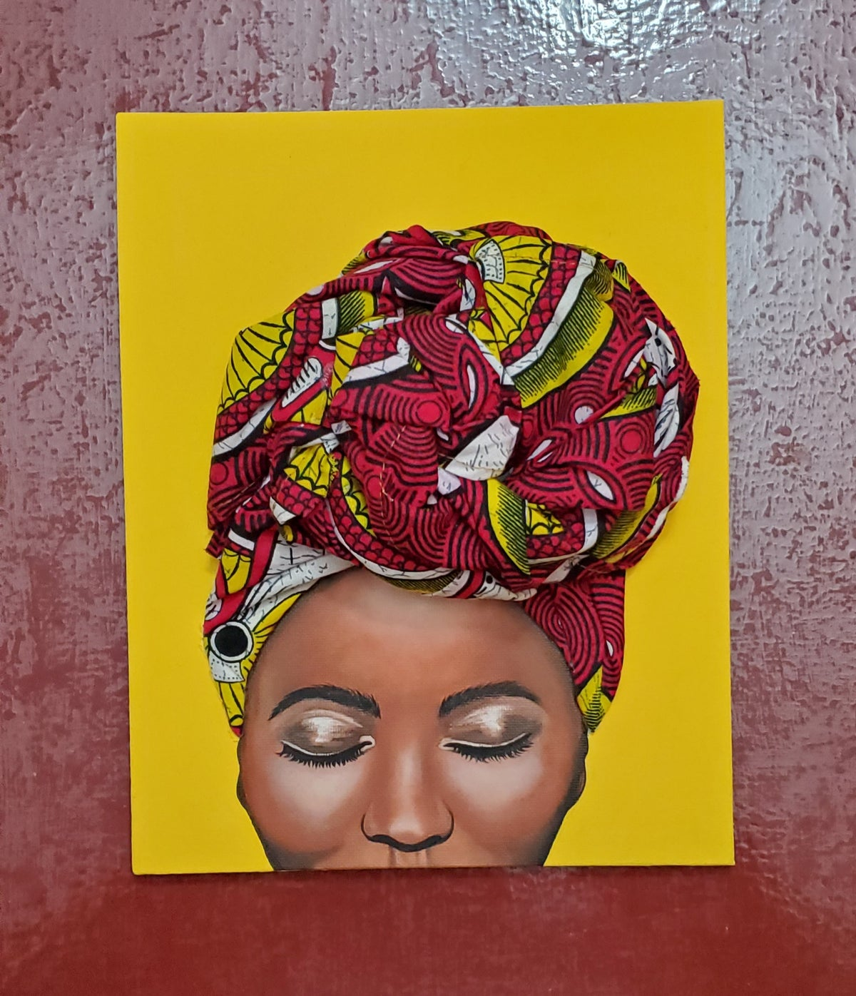 Image of Serenity Headwrap Painting #1B