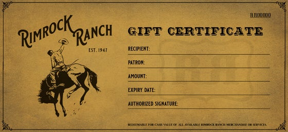 Image of RR Gift Certificate