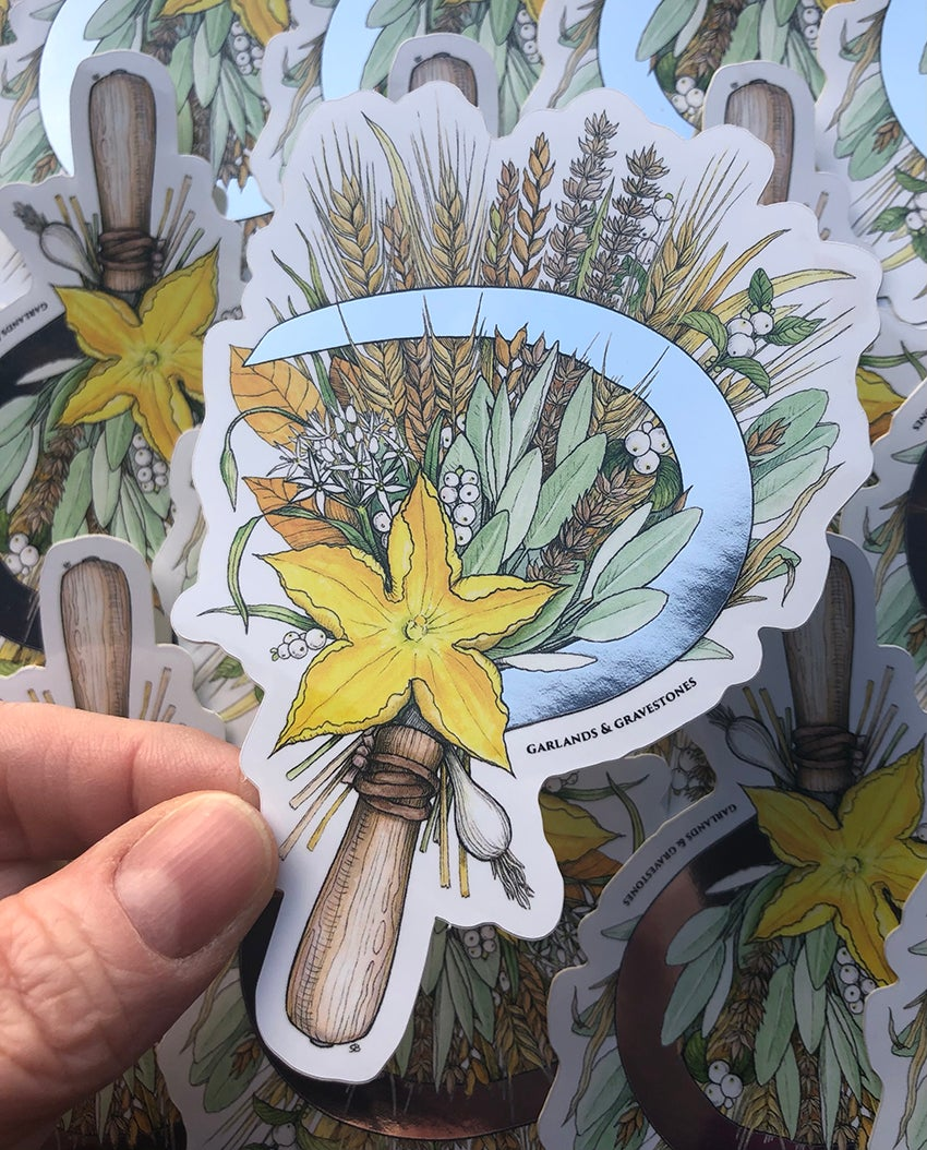 Image of Autumn Harvest Mirrored Sticker