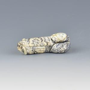 Image of Ebony Ivory Light #1 Phallus Charm Bead - Flamework Glass Sculpture Bead