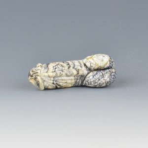 Image of Ebony Ivory Light #2 Phallus Charm Bead - Flamework Glass Sculpture Bead