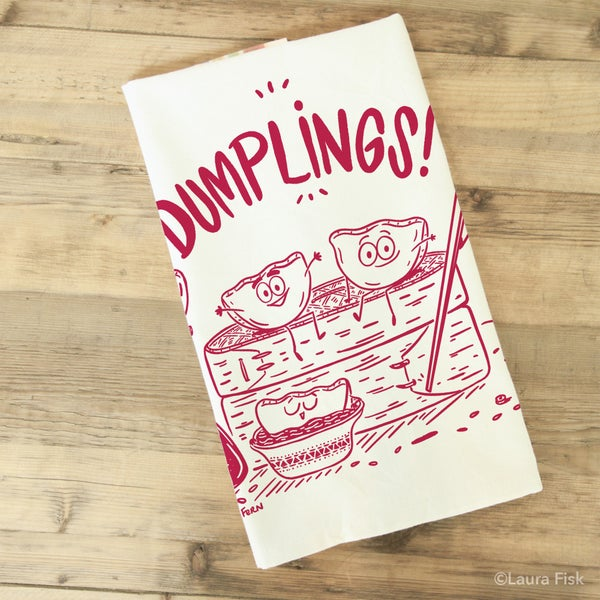 Image of Dumplings Funny Food Tea Towel