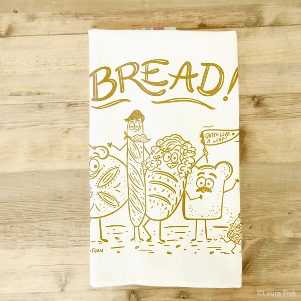 Image of Bread Funny Food Tea Towel