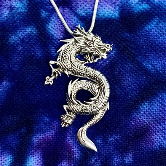 Image of Dragon With Matches Pendant