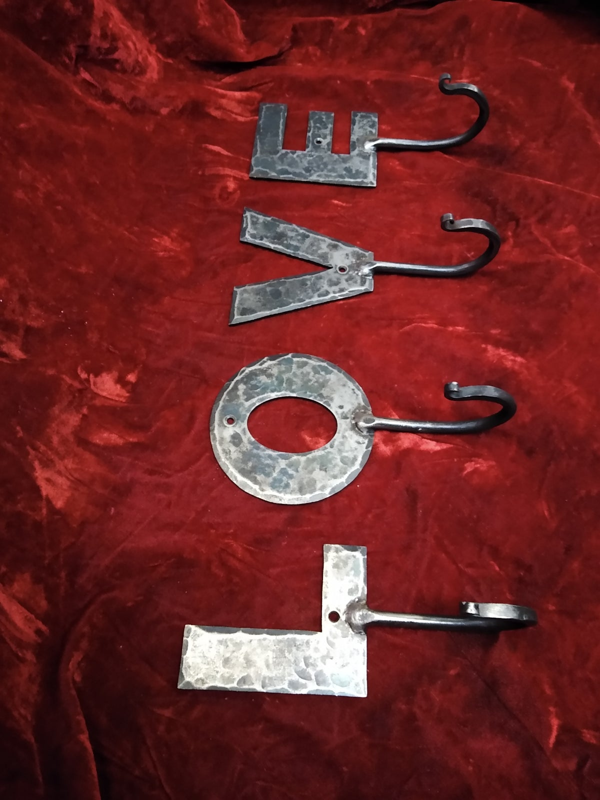 Image of Forged letter hooks 2