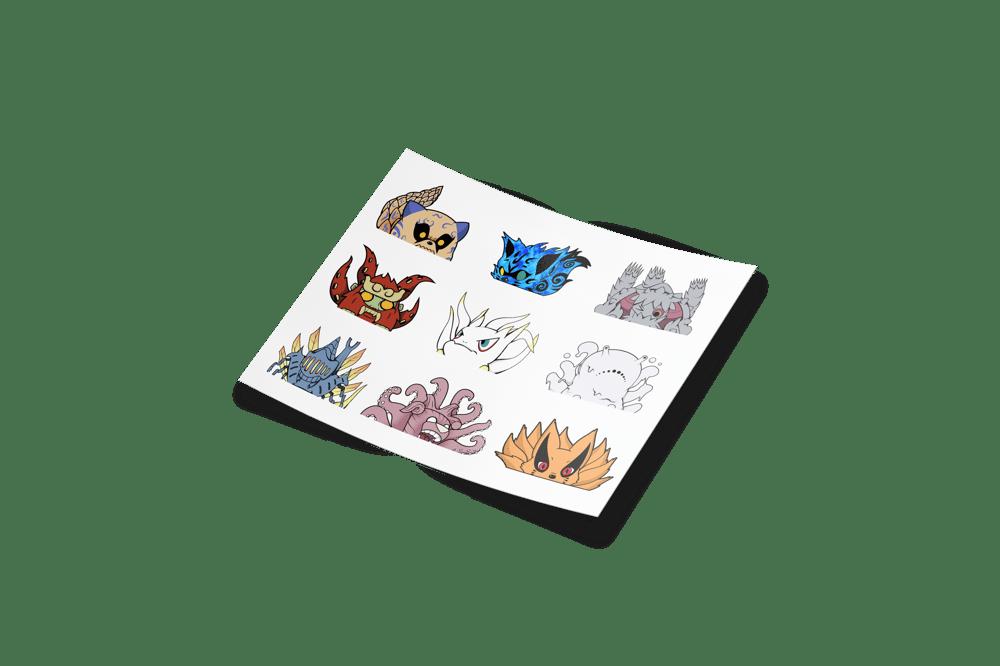 Image of MINI Tailed Beasts Sticker Sheet
