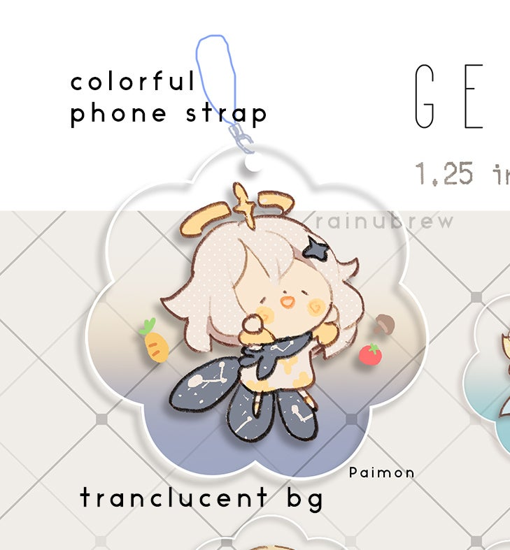 Image of Genshin Impact Gatcha Charms