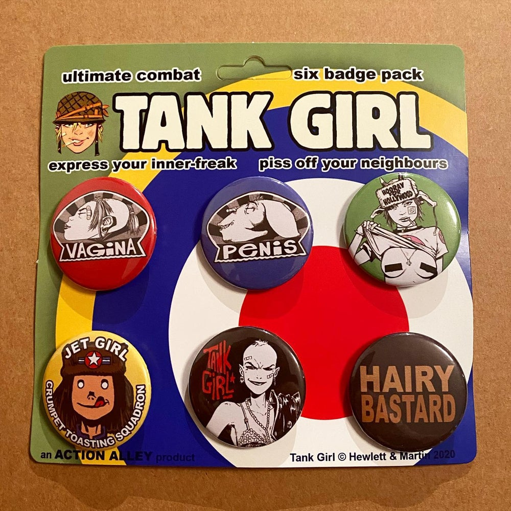 Image of TANK GIRL ULTIMATE COMBAT SIX BADGE PACK