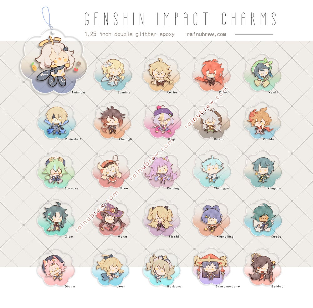 Image of Genshin Impact - Set 1 | 1.25 Inches Gatcha Charms