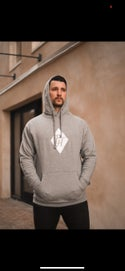 PH Applique Stitch Hoodie-Grey
