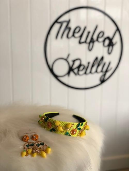 Image of Lemon Headband and Earrings Set