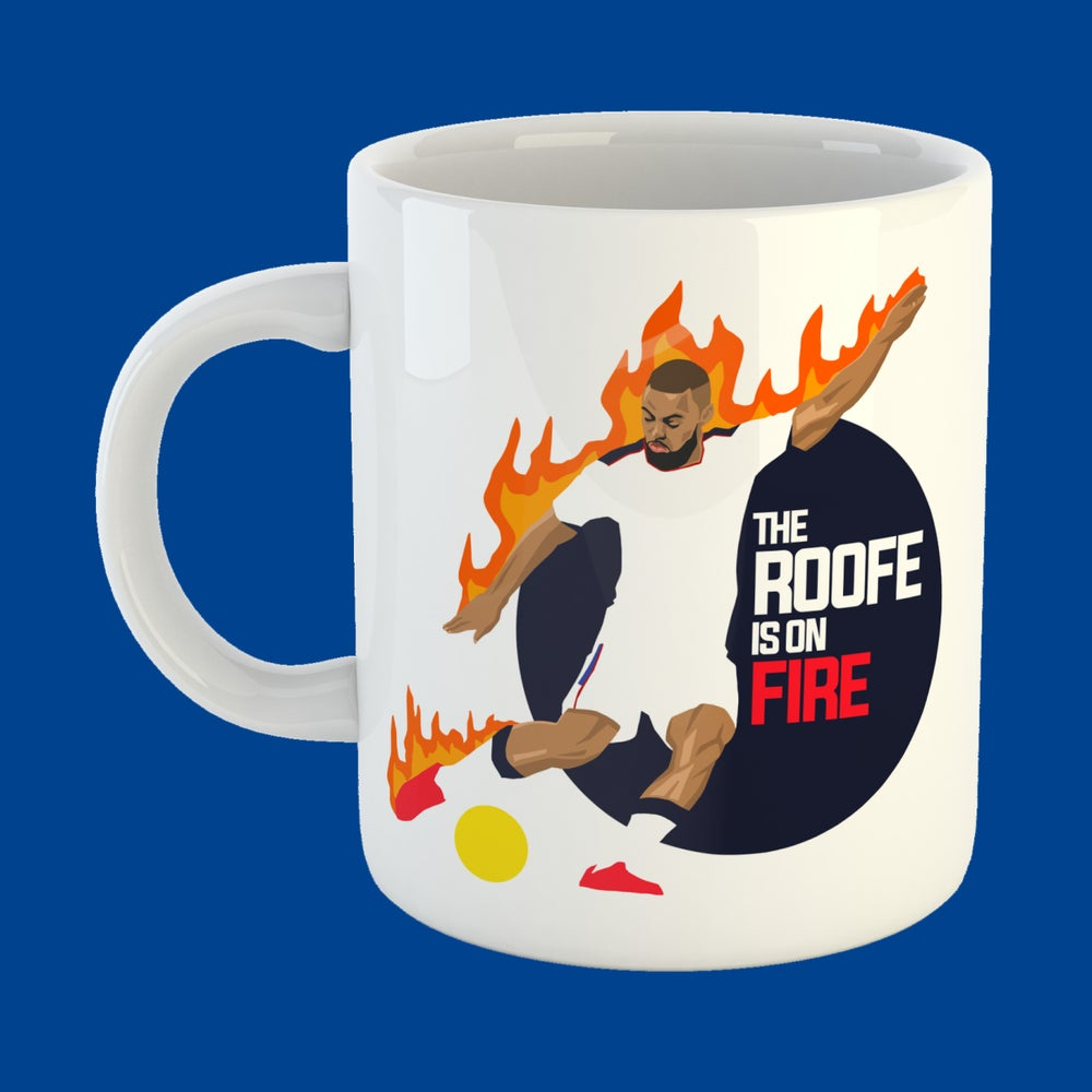 Image of The Roofe is on fire mug