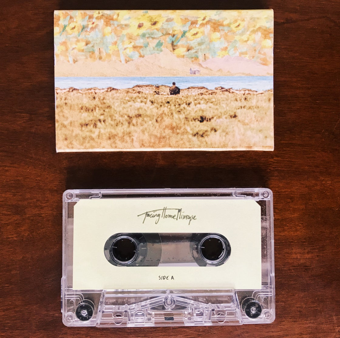 Image of  'Facing Home Mixtape' Clear Cassette